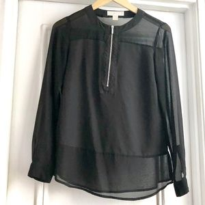 Michael Kors Lightweight Long Sleeve Blouse